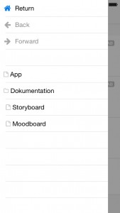Sitemap in der AxShare App