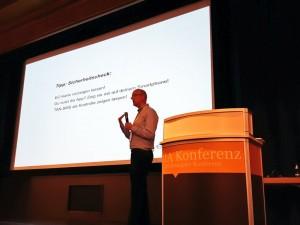 Lars auf der IA Konferenz