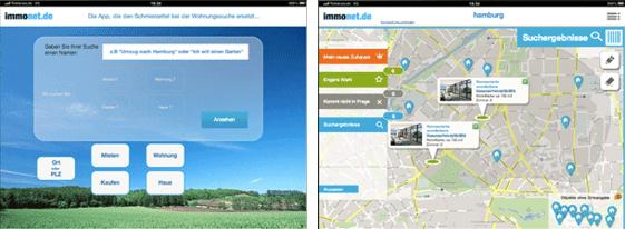 eparo Prototyp zur Immonet iPad-App